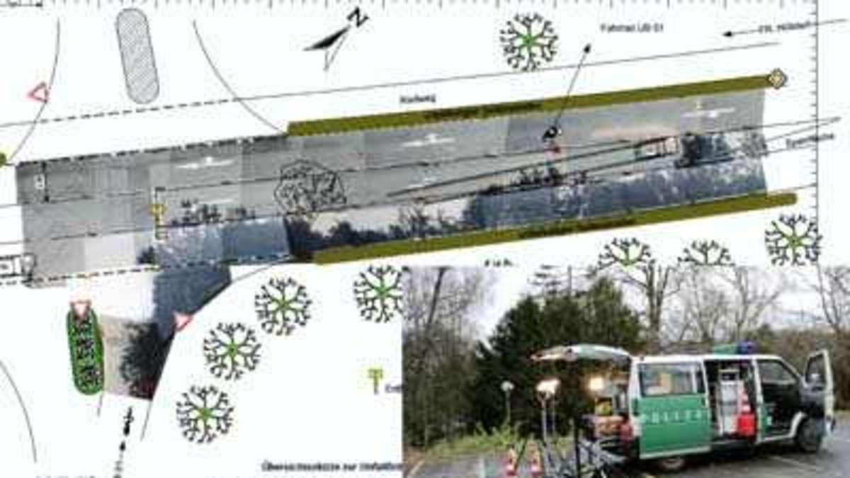 Unfallskizze: Bremsspur aufs Foto malen | Rhein Wupper
