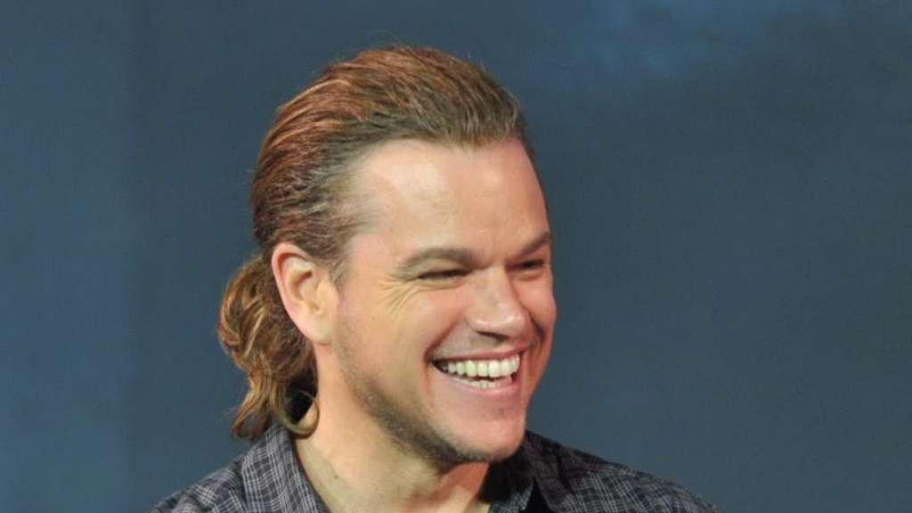 Matt Damon mit Pferdeschwanz in China. Foto: Niu Daqing/Imaginechina