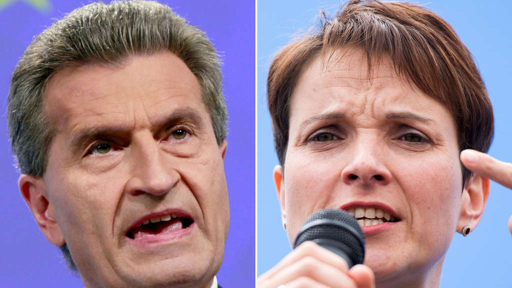 Günther Oettinger, Frauke Petry