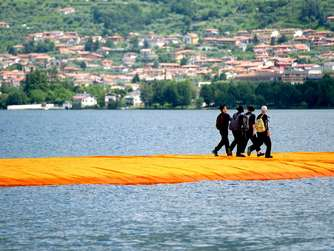 Christo Projekt Floating Piers