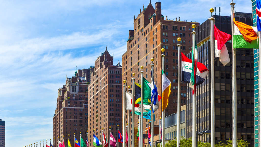 Das Hauptquartier der Vereinten Nationen in New York