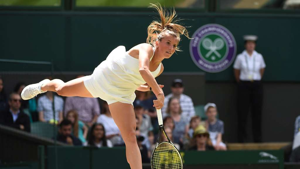 Annika Beck scheiterte in Wimbledon an Serena Williams.