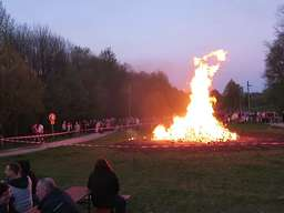 Osterfeuer in Lennep