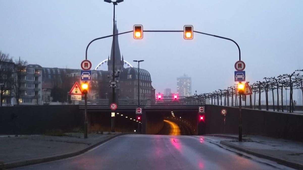 Sperrung Rheinufertunnel Düsseldorf