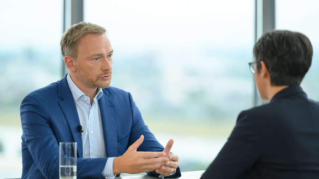 Christian Lindner am 18. August beim Sommerinterview des ZDF