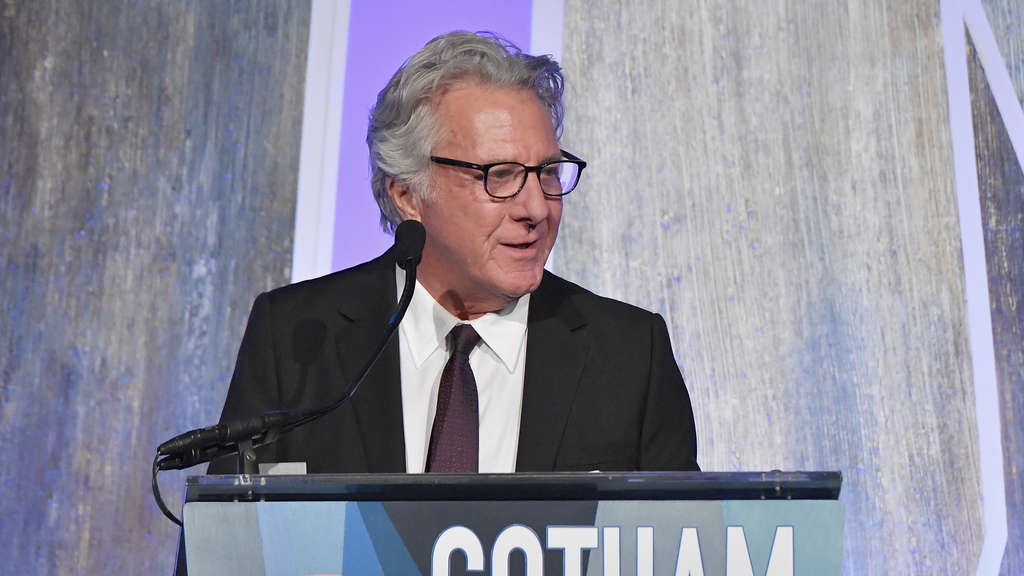 US-Schauspieler Dustin Hoffman spricht bei den Gotham Independent Film Awards in New York City